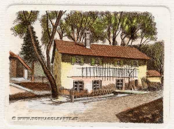 Tornasolearte firenze acquaforte 242b casa colonica for Disegni casa colonica
